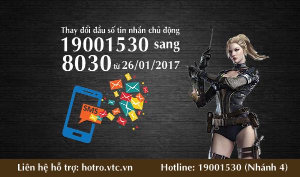 [TB] Quy trình CSKH thay đổi tin nhắn chủ động 19001530 sang 8030 từ  26/01/2017